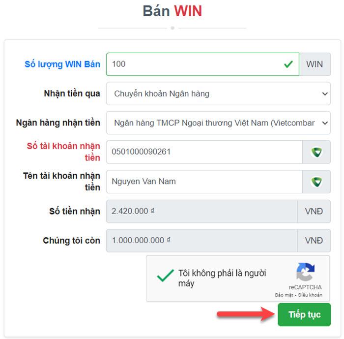Cách rút Win khỏi Wefinex thông qua sàn Muabancoin.io