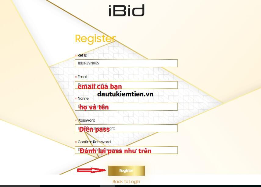 ng ký tài khoản sàn IBID