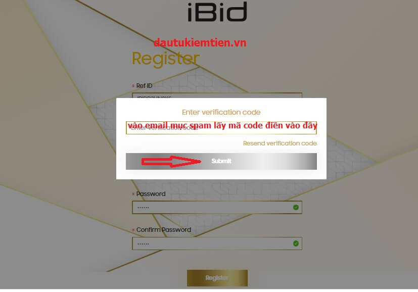 iền mã code sàn đấu giá IBID