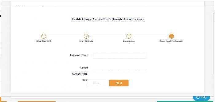 Điền mật khẩu và 6 mã số trên phần mềm hiển thị