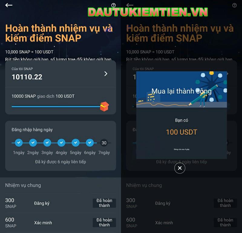 Snapex là gì? Hướng dẫn đăng ký từ A đến Z nhận 100USD tiền thưởng 2020 8
