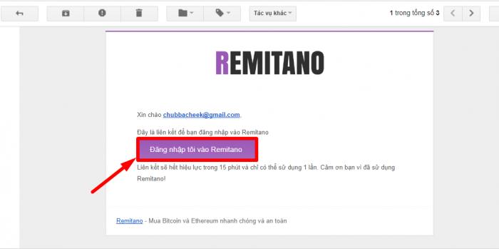 Đăng ký tài khoản Remitano