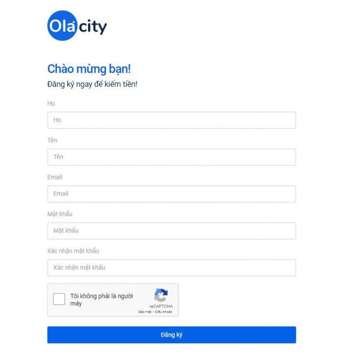 Đăng kí Ola City