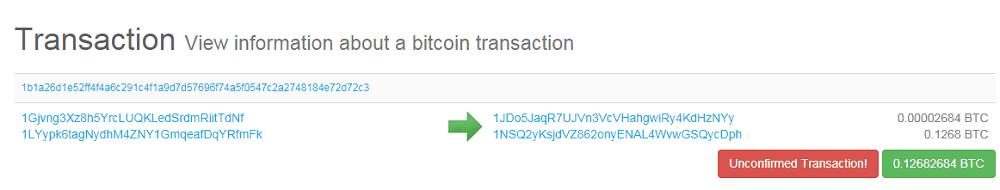Giao dịch Bitcoin đã được xác nhận