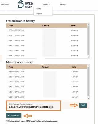 Vào mục Profile rồi dán địa chỉ ví vừa Copy ở trên rồi nhấn Save