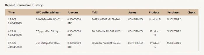 Kích chọn vào mục Cilent  Profile check xem đồng Coin đã mua