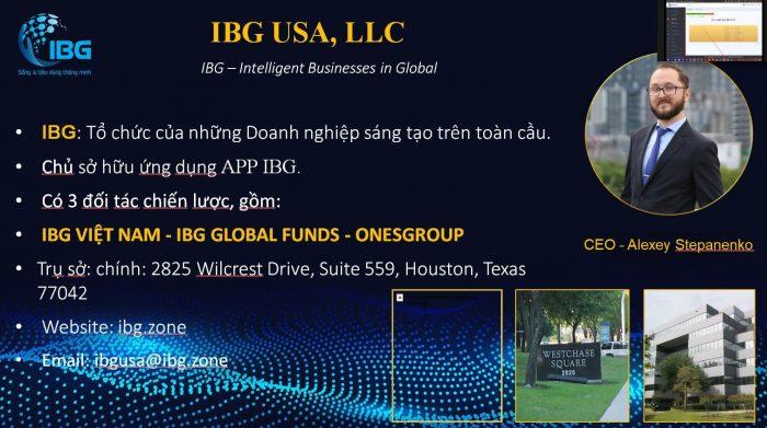 IBG là tổ chức của những doanh nghiệp sáng tạo trên toàn cầu