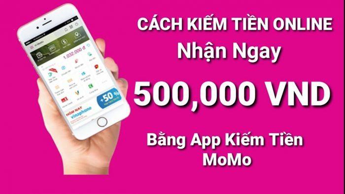 Kiếm tiền bằng app ví momo