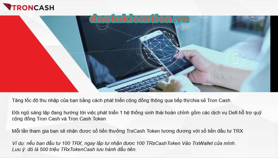 Đầu tư TRX nhận Token~