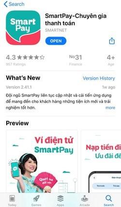 """Tìm kiếm từ khóa """"SmartPay"""""""