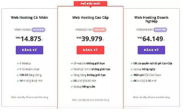 Dung lượng web Hosting
