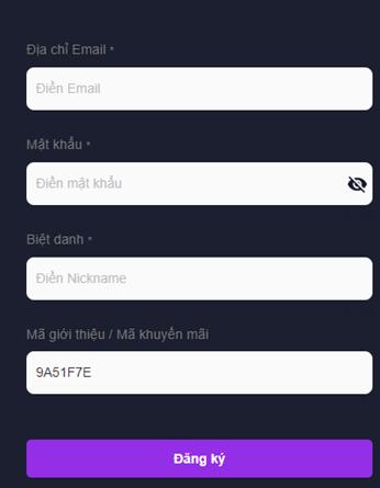 Điền đầy đủ thông tin và tích chọn đăng ký