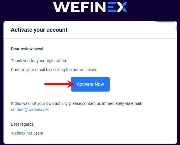 Kích chọn vào Active Now trong Email để kích hoạt tài khoản