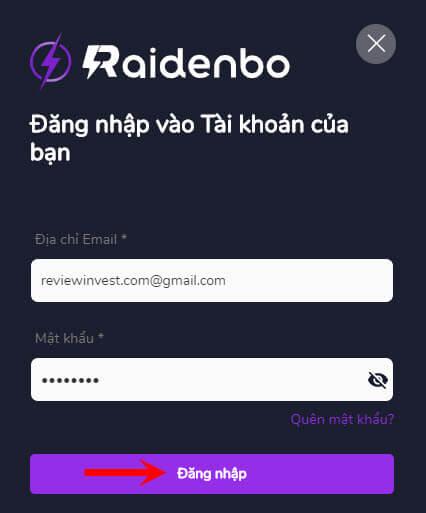 Đăng ký sàn Raidenbo