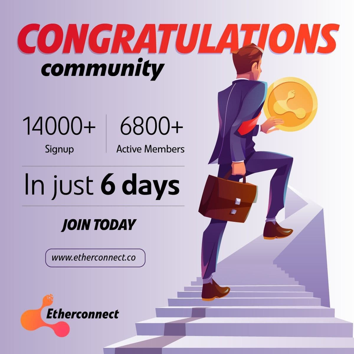 Etherconnect so luong nguoi tham gia