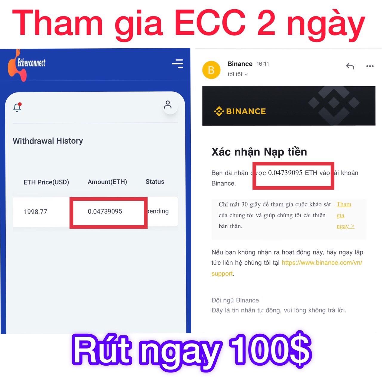 rut tien Etherconnect
