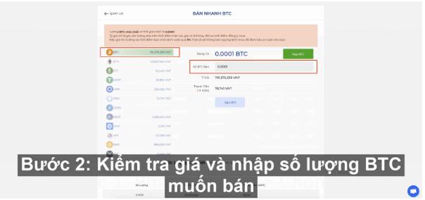 Bán nhanh Bitcoin sàn giao dịch Fiahub siêu dễ