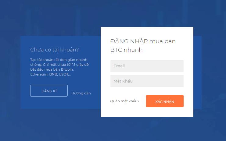 """Nhập Email + Mật khẩu và Click """"XÁC NHẬN"""" để đăng nhập tài khoản Fiahub"""