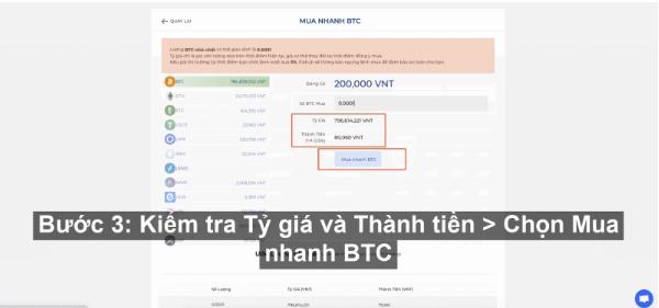 Mua nhanh Bitcoin sàn Fiahub siêu dễ