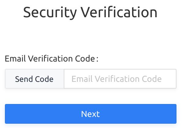 Bạn cần nhập mã Code xác minh thông qua Email