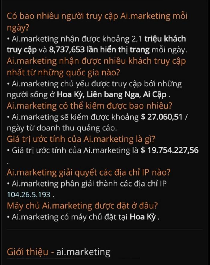 Một số câu hỏi AI MARKETING