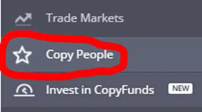 Ấn vào mục Copy Trader