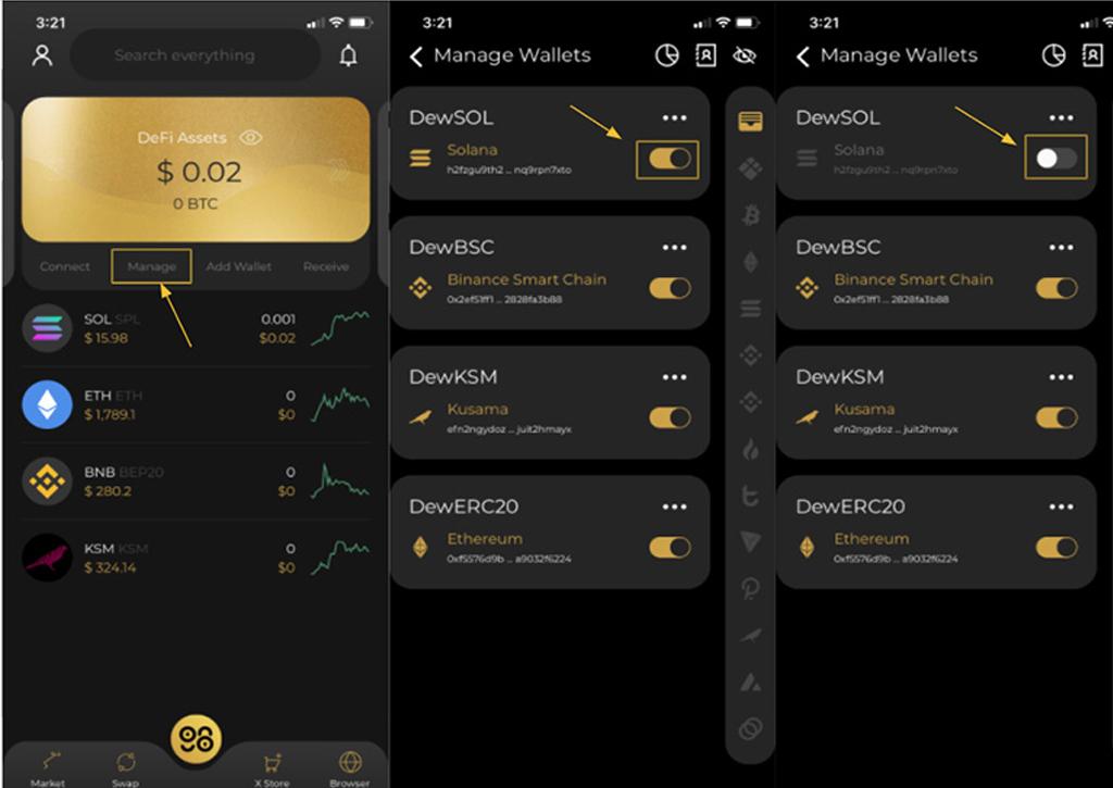 Cách kích hoạt và quản lý ví Coin98