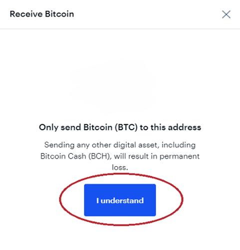 Coinbase cảnh báo bạn chỉ được gửi BTC vào ví này