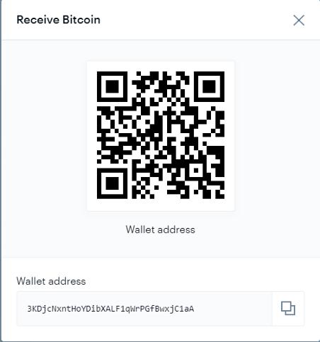 Trong hình chính là địa chỉ ví BTC trên Coinbase của bạn