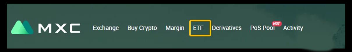 Truy cập ETF trên thanh Menu