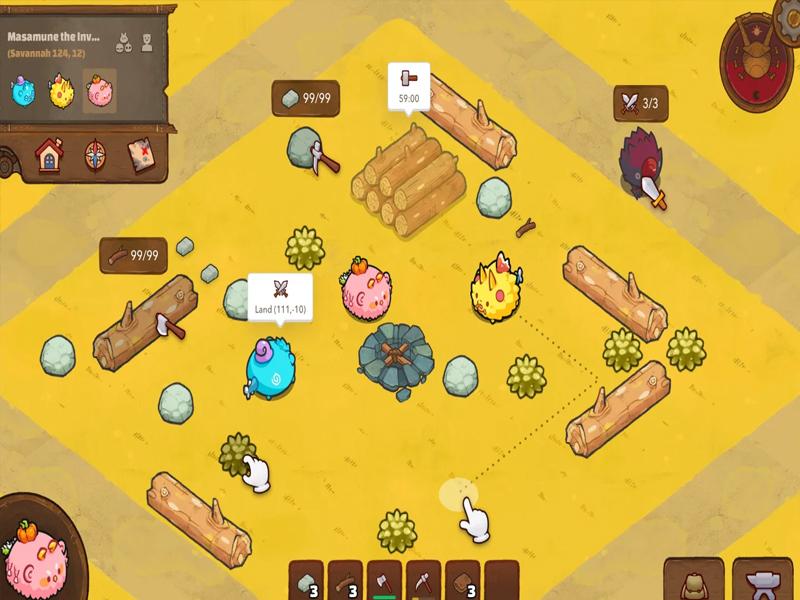 Axies, Lands và các vật phẩm trong trò chơi khác là NFT