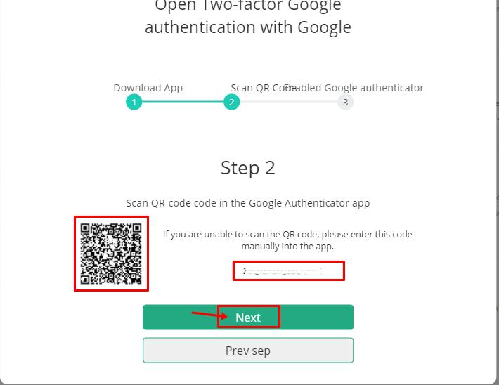 Lưu lại mã 2FA Backup key để trường hợp mất điện thoại