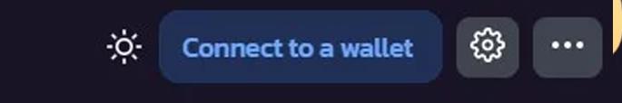"""Nhận vào nút """"Connect a wallet"""" ở góc phải màn hình"""
