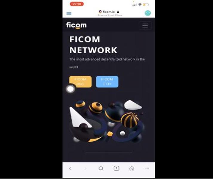 Ficom sẽ hiện lên 2 nền tảng là FICOM BSC và FICOM ETH