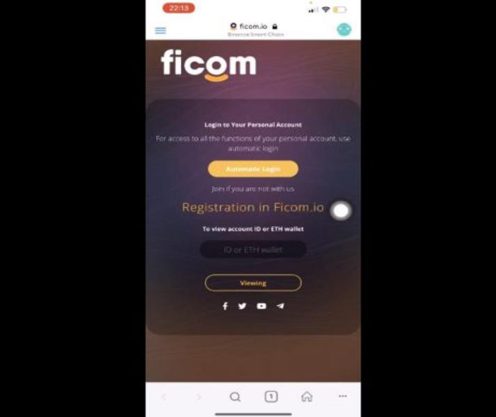 Bạn nhấp vào Registration in Ficom.io
