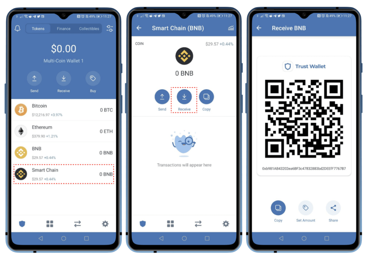 Bạn nạp BNB vào ví để tiếp tục tham gia giao dịch trên ứng dụng