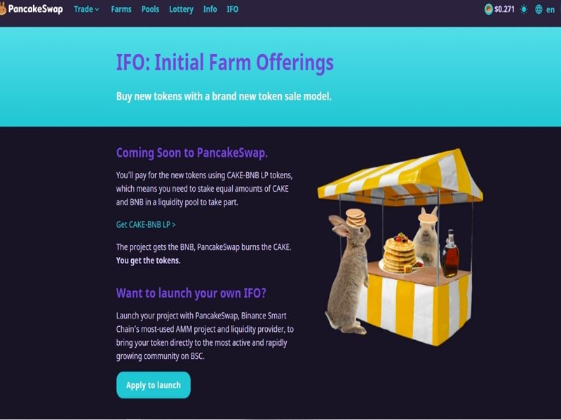 IFO là một hình thức gây quỹ cho dự án bằng CAKE-BNB LP token