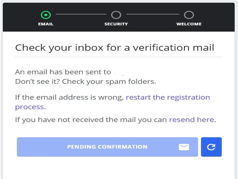 bạn phải xác nhận kích hoạt thông tin tài khoản trong E-Mail