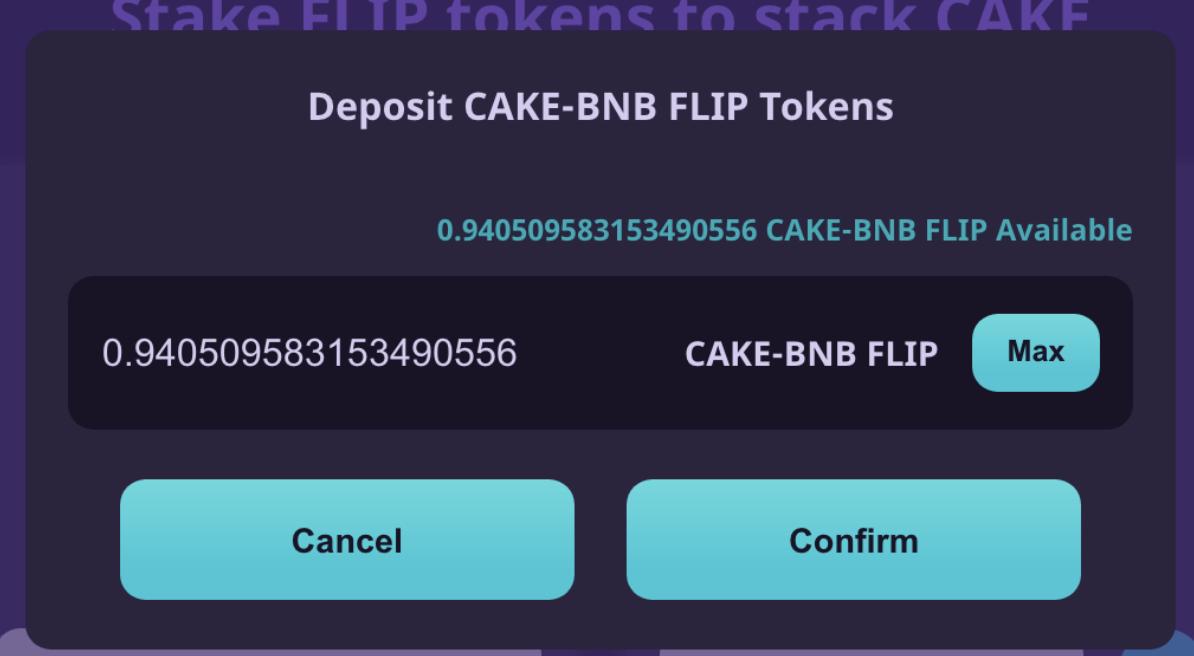 Nhập số lượng token thanh khoản và nhấn Confirm
