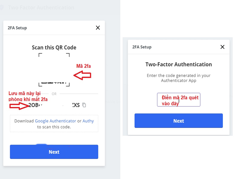 Bạn mở ứng dụng Google Authenticator lên và quét mã 2FA