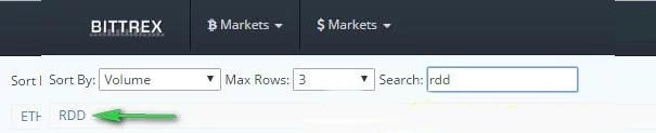 Đánh tên Altcoin muốn bán vào khu vực mua bán