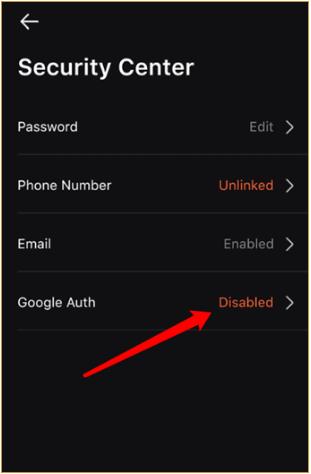 chọn vào Google Auth chỗ Disabled
