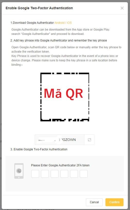 Bạn mở ứng dụng Google Authenticator lên và quét đoạn mã này