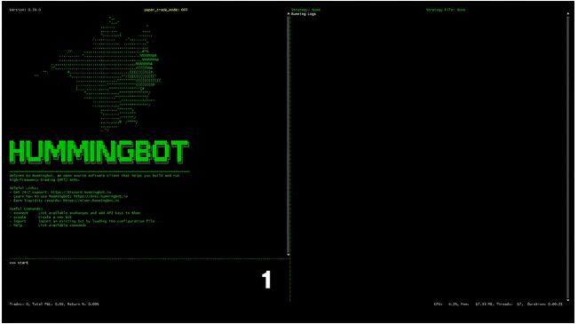 Khám phá giao diện của Hummingbot