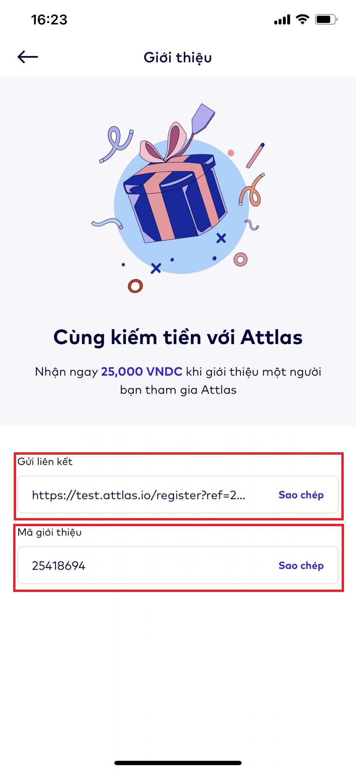 Hướng dẫn cách nhận 25K VNDC sàn Attlas