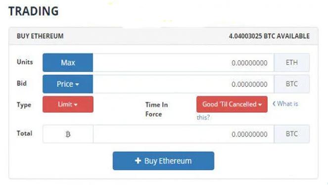 Điền xong thông tin, bạn nhấn vào Buy Ethereum để mua