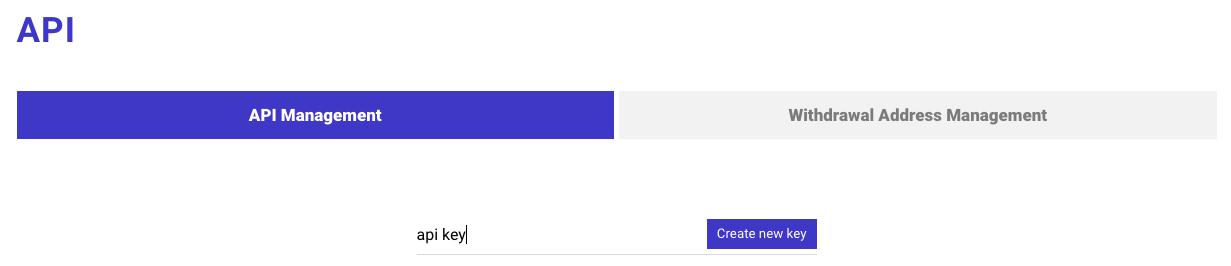 Nhấp chọn vào khóa API mới