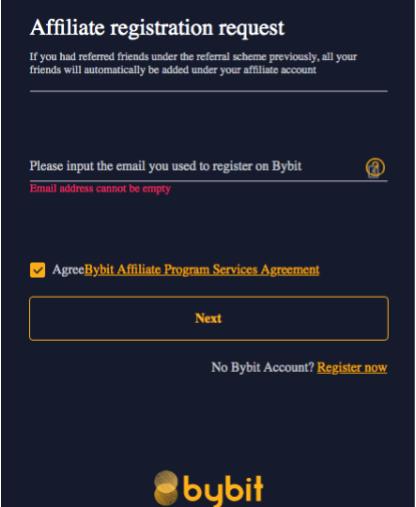 Bạn nhập những thông tin ĐK để tham gia vào chương trình Affiliate
