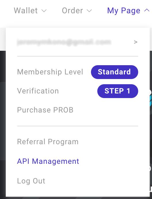 Tạo khóa API ProBit