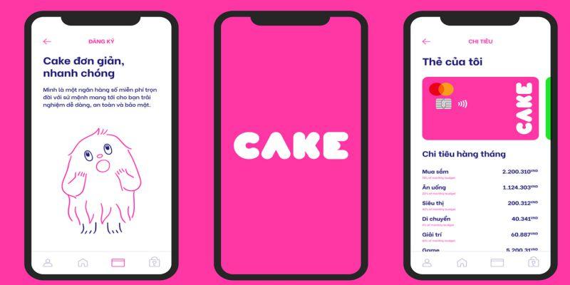 Cake là dịch vụ ngân hàng điện tử trực tuyến